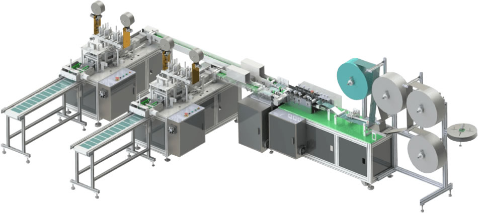 Disposable Mask Making Machine 1+2